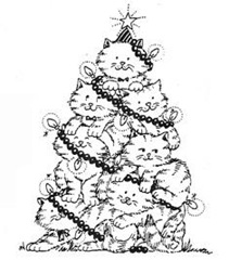 cat-christmas tree