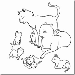 cat_family_lineart_outlined_by_rjtheawsome11-d3d4oej